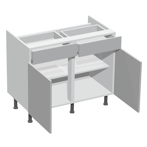 Hob Double Base Twin DL