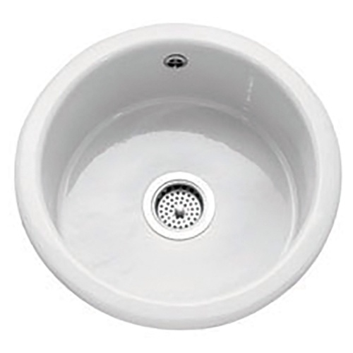 Caple Warwickshire - Single Round Bowl - Ceramic - Inset / Undermount