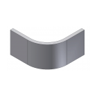 Rigid Curved Plinth - Door matching